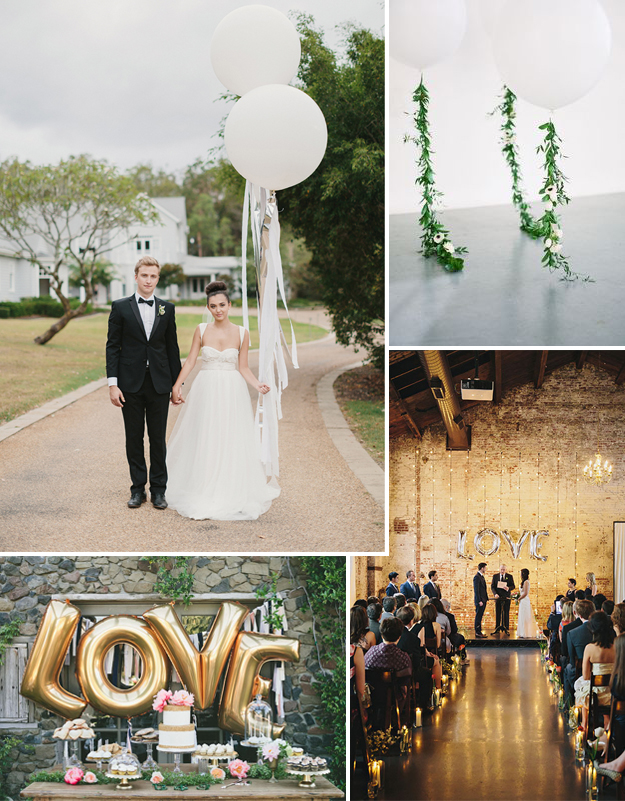 Wedding decoration with giant balloons