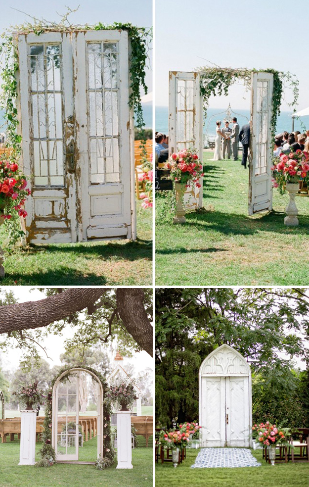 Ancient doors at the ceremony