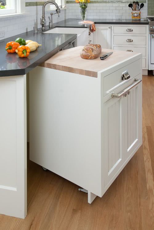modern small kitchen with island