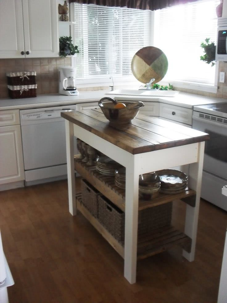 open concept kitchen island with