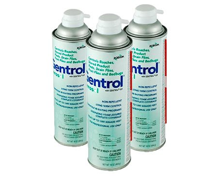 Extermination of toilet flies with aerosols and poisons