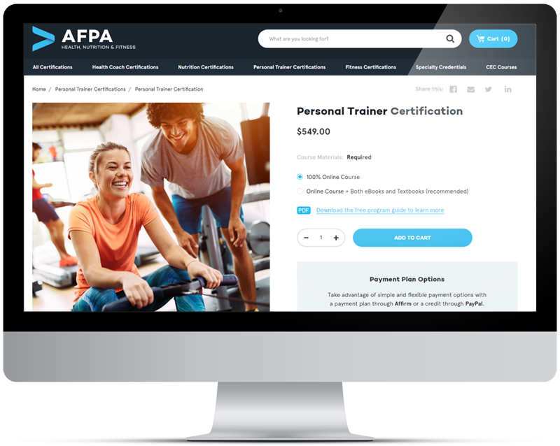 American Associates and Fitness Professionals (AFPA)