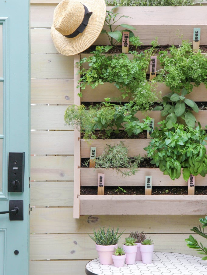 1. Save space with a vertical garden