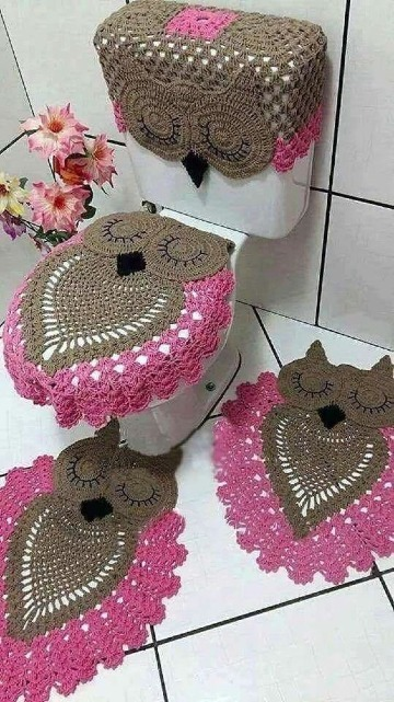 HOW TO MAKE BATHROOM SETS WITH FLOWERS