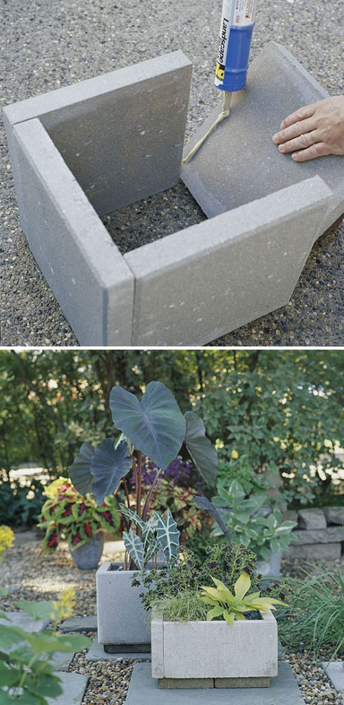16. Make planters with concrete slabs