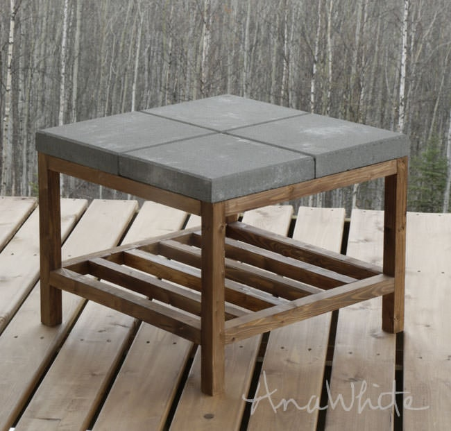 20. Create your table with a concrete top