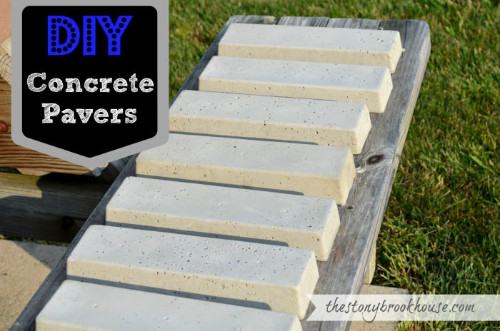 22. Make your own garden pavers