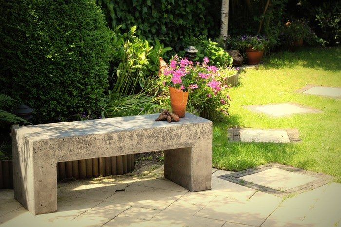 25. Build your bench all in concrete