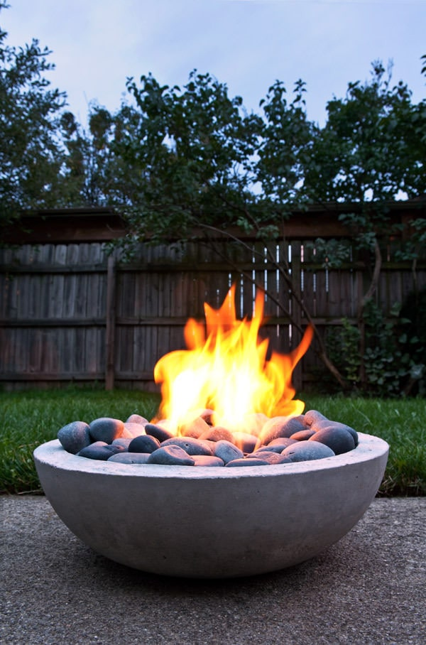 28. An easy-to-build concrete fire pit
