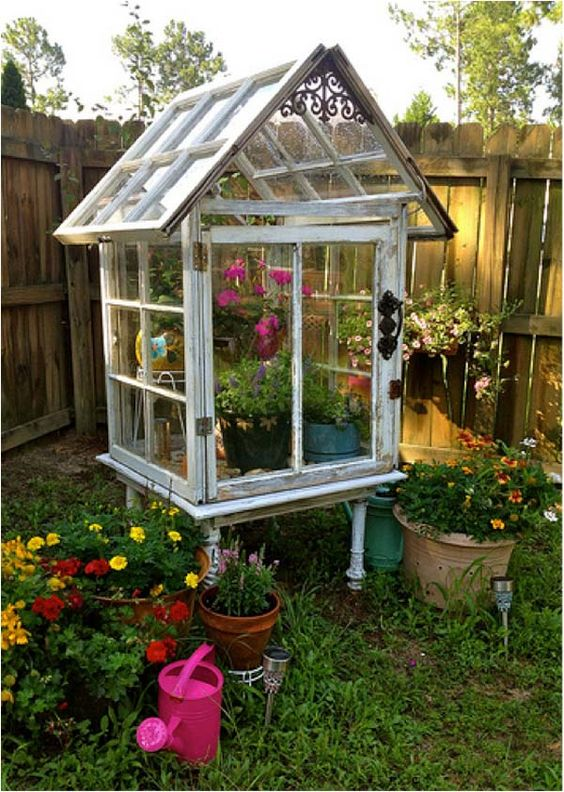 OUTDOOR PLANTERS OR GREENHOUSES