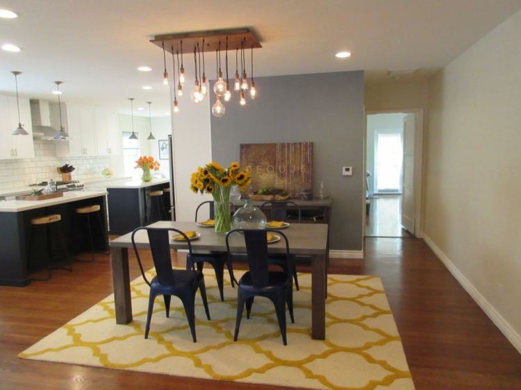 sunflowers-centerpieces-tables-dining rooms-colors