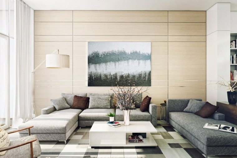 ideas to decorate a modern contemporary style living room wall