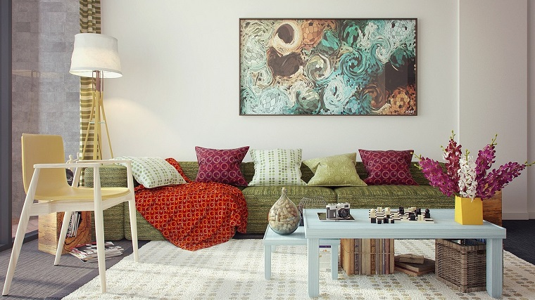 ideas to decorate a modern feminine style living room wall