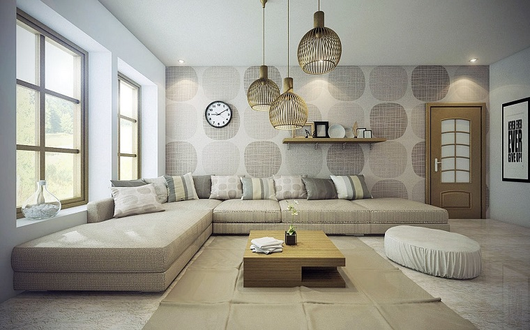 ideas to decorate a living room wall modern wall paper