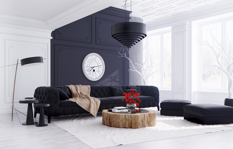ideas to decorate a living room wall modern black wall