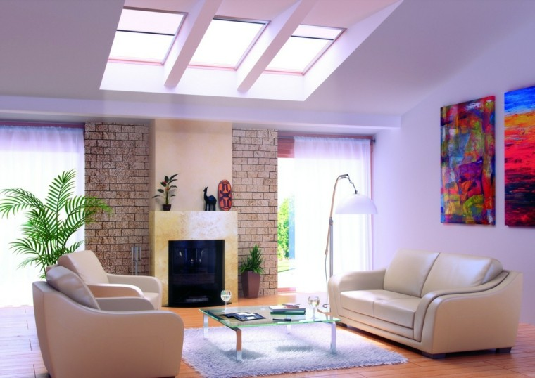 modern living room wall decorated pictures fireplace ideas