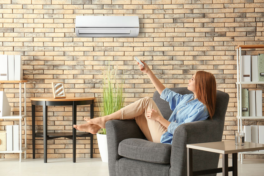 The installation of air conditioners