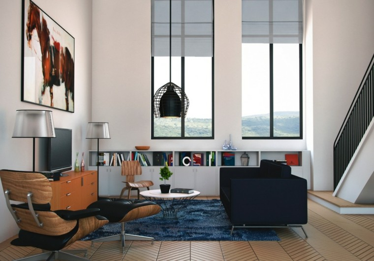 modern living room wall decorated picture windows ideas