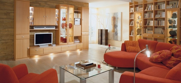 modern living room wall decorated wooden shelves decorations ideas