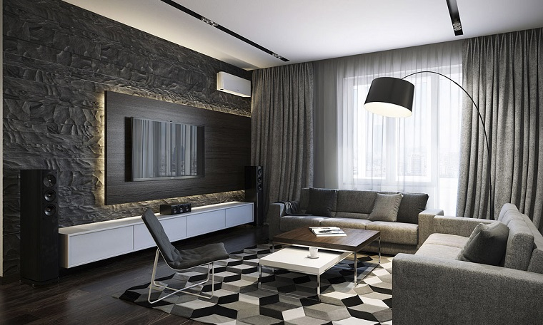 ideas-to-decorate-wall-living-room-modern-textures