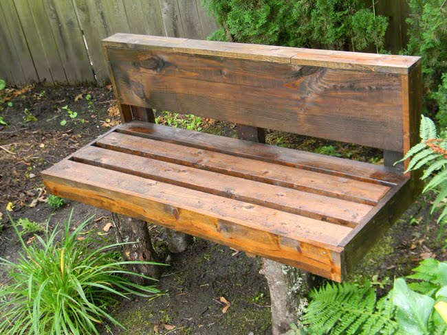 8. Build a wooden bench in the shade