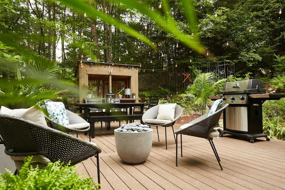 Relaxation area in the garden