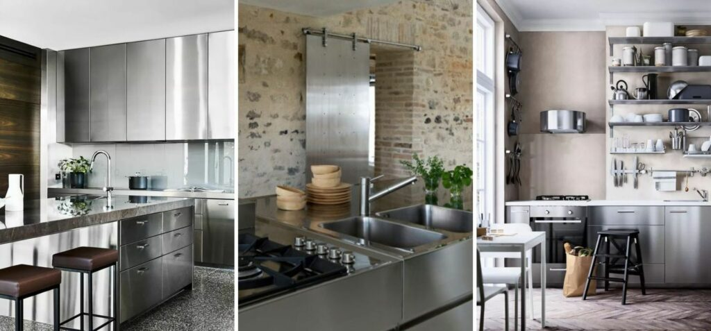stainless kitchen cabinet