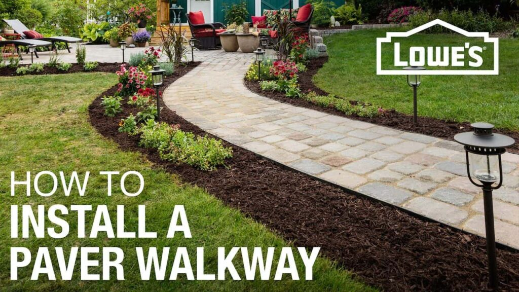 How to install a new paver walkway