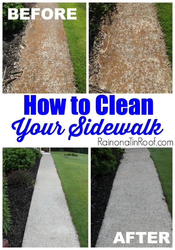 How to clean your dirty stone path