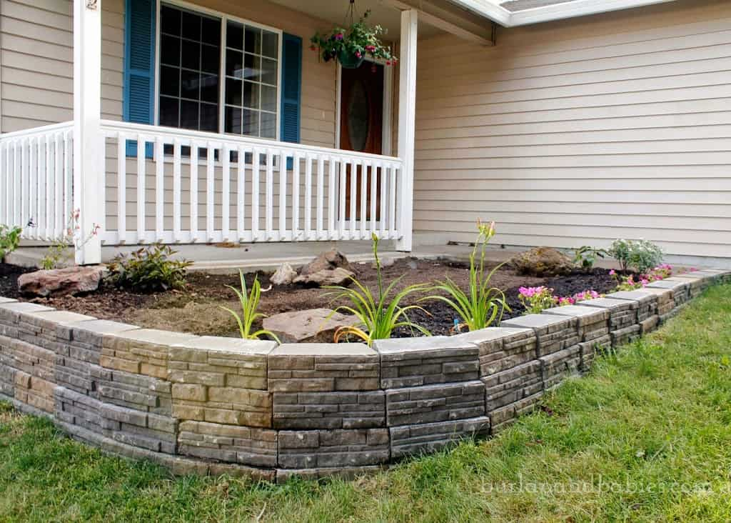 Build a retaining wall of stone