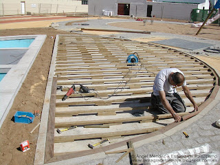 Ipe wood, exterior decking assembly, decking for terraces